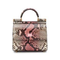 Сумка Sicily из кожи питона Dolce & Gabbana