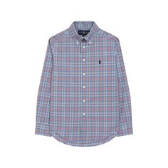 Хлопковая рубашка с воротником button down Ralph Lauren