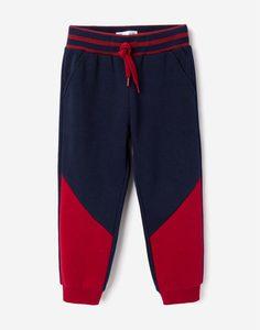 Спортивные брюки колор-блок для мальчика Gloria Jeans