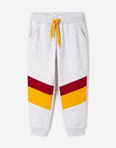 Серые брюки со вставками для мальчика Gloria Jeans