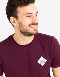 Бордовая футболка с принтом Gloria Jeans