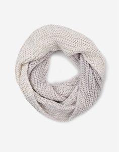 Серый шарф-снуд для девочки Gloria Jeans