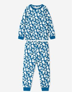 Пижама с пингвинами для мальчика Gloria Jeans