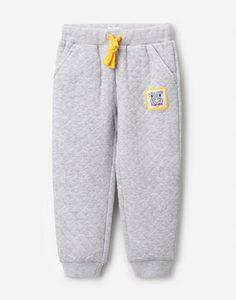 Серые стёганые брюки-джоггеры для мальчика Gloria Jeans