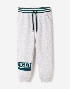 Серые спортивные брюки для мальчика Gloria Jeans