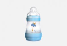 Бутылочкадлякормленияссистемой«анти-колик»ифункциейсамостерилизации,0+ MAM