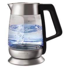 Чайники электрические Чайник электрический POLARIS PWK 1898CGLD, 2200Вт, серебристый и черный