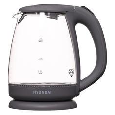 Чайник электрический HYUNDAI HYK-G1003, 2200Вт, серый