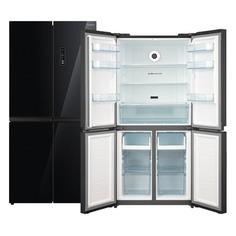 Холодильник БИРЮСА CD 466 BG, трехкамерный, черный