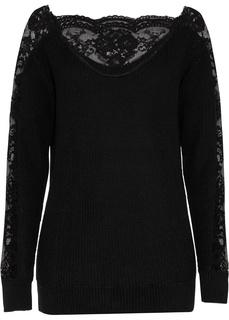 Пуловер с кружевом Bonprix