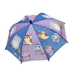 Зонт детский механический BONDIBON синий/ фиолетовый с совятами ВВ4431