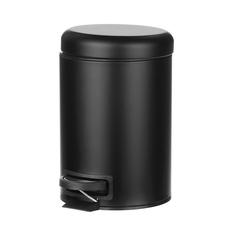 Ведро мусорное Wenko sanitary lerman черное педаль 3л