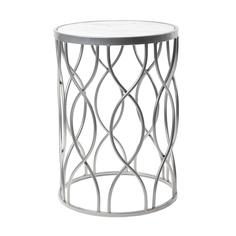 Столик интерьерный с белым мрамором Glasar 32x32x45 см ГЛАСАР