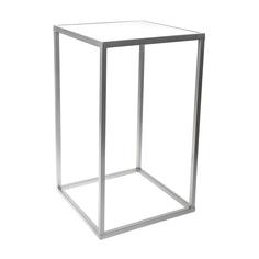 Столик интерьерный с белым мрамором Glasar 31x31x59 см ГЛАСАР