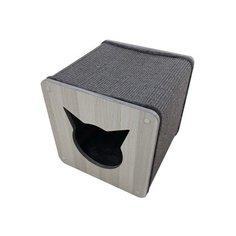 Когтеточка для кошек WOOD LINE сизаль плюш 39х39х39 см