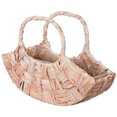 Корзина-сумка Азалия Декор d31 см ротанг Без бренда