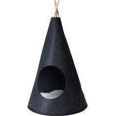 Домик для кошек Сats Collection Вигвам 40x70х40 см черный Без бренда