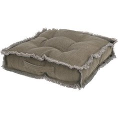 Подушка для стула с бахромой коричневая 40 см Без бренда