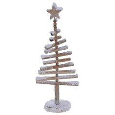 Декорация Елка заснеженная дерево 15x9x40 см Без бренда
