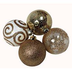 Набор елочных шаров 8 шт 8 см серебряно-золотой OBI