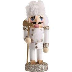 Елочная игрушка Koopman International Украшение Щелкунчик дерево 4x3,5x9 см