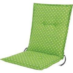 Подушка для садовой мебели Xenon зеленая в горошек 105х50х6 см Без бренда