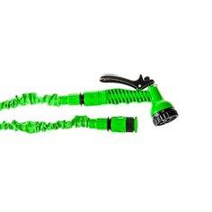 Шланг садовый удлиняющийся зеленый 10-30 м Без бренда
