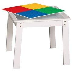 Столик игровой Lego table 60x60x51 см белый Без бренда