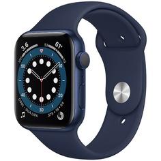Смарт-часы Apple Watch Series 6 44 мм синий, спортивный ремешок