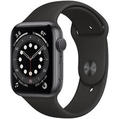 Смарт-часы Apple Watch Series 6 44 мм серый космос, спортивный ремешок