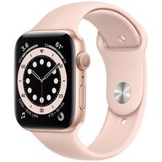 Смарт-часы Apple Watch Series 6 40 мм золотой, спортивный ремешок