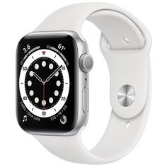 Смарт-часы Apple Watch Series 6 40 мм серебристый, спортивный ремешок