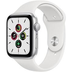 Смарт-часы Apple Watch Series SE 44 мм серебристый, спортивный ремешок