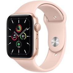 Смарт-часы Apple Watch Series SE 44 мм золотой, спортивный ремешок