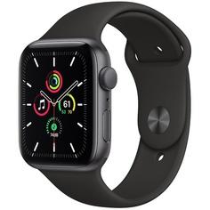 Смарт-часы Apple Watch Series SE 44 мм серый космос, спортивный ремешок
