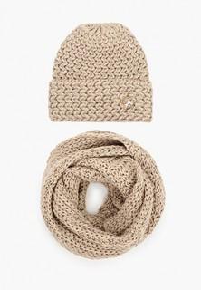 Комплект TrendyAngel шапка, брошь и снуд 35х140 см
