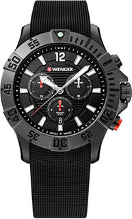Швейцарские наручные мужские часы Wenger 01.0643.120. Коллекция Seaforce Chrono