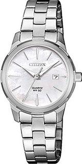 Японские наручные женские часы Citizen EU6070-51D. Коллекция Basic