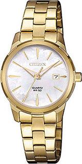 Японские наручные женские часы Citizen EU6072-56D. Коллекция Basic