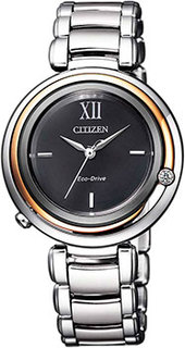 Японские наручные женские часы Citizen EM0658-87E. Коллекция Eco-Drive