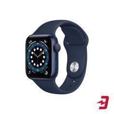Смарт-часы Apple Watch S6 40mm Blue Aluminum Case with Deep Navy Sport Band (MG143RU/A)
