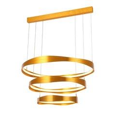Светильник подвесной elazzo (st luce) золотой 60 см.