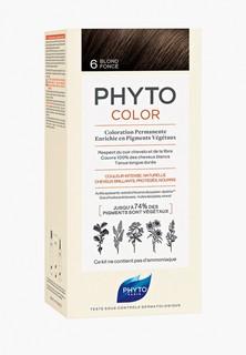 Краска для волос Phyto 6 ФИТОКОЛОР, темный блонд, 50/50/12.