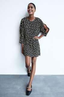 Мини-платье в горошек Zara