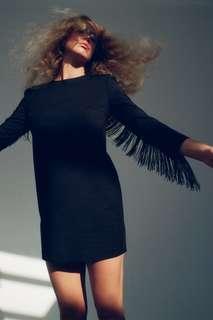 Мини-платье с бахромой Zara