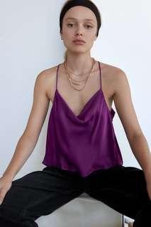 Топ в бельевом стиле на бретелях Zara