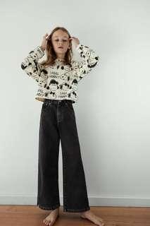 Джинсы с широкими штанинами Zara