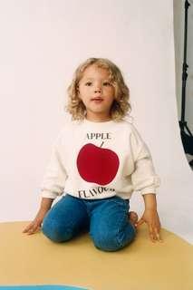Толстовка с рельефным принтом «яблоко» Zara