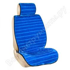 Накидки на сиденья skyway меховые, искусственный мутон, 5 предметов, синий, полоска s03001066