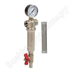 """Латунный механический фильтр aquafilter резьба 3/4"""" fhmb34_x. 582"""